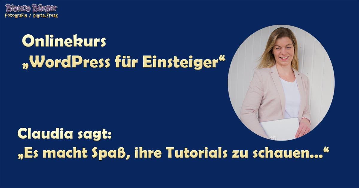 Kurs - WordPress für Einsteiger 4