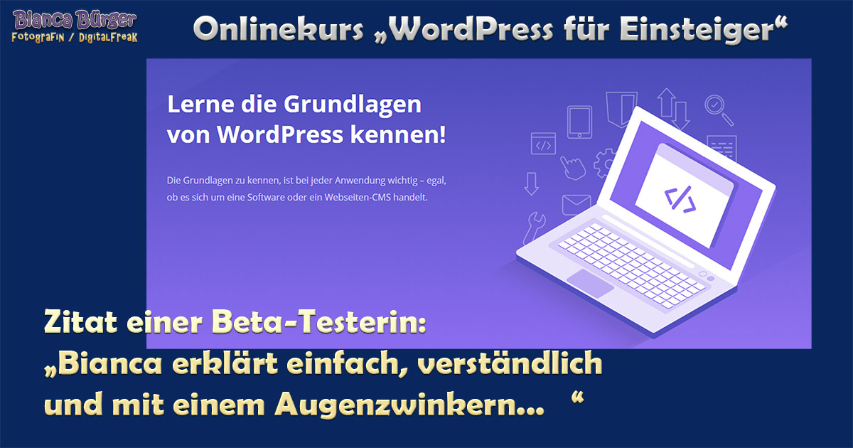 Kurs - WordPress für Einsteiger 6